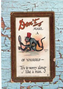 Don't Make A Monkey of Yourself Antique/Vtg Postcards, Rebus, Raphael Tuck