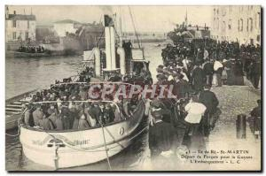 Old Postcard Steam Bagnard Ile de Re Saint Martin Travel from Forcats for Guy...