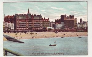 P184 JL old postcard kings rd beach w. pier brighton england