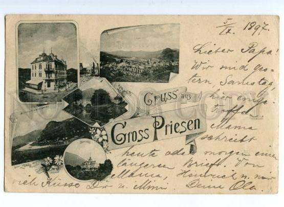 172135 CZECH REPUBLIC GRUSS aus GROSS PRIESEN RPPC 1897 year