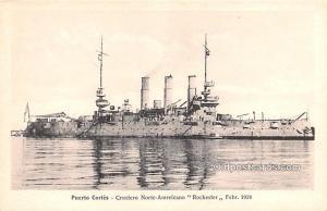 Military Battleship Postcard, Old Vintage Antique Military Ship Post Card Pue...
