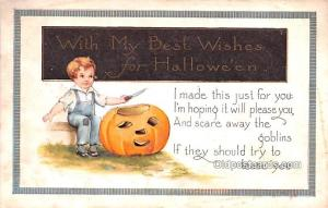 Halloween Post Card Old Vintage Antique Whitney Made Publishing Unused