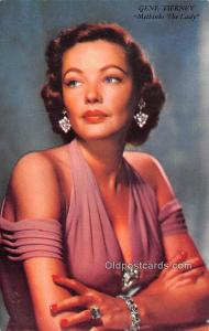 Gene Tierney, 20th Century Fox Pictures Movie Star Actor Actress Film Star Po...