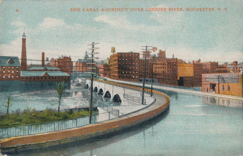 Erie Canal Aqueduct Crossing Genesee River, Rochester, New York - DB