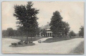 Detroit Michigan~Palmer Park Casino~Boulder on Path~1908 Rotograph Postcard