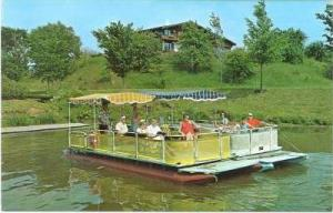 A group enjoying a scenic trip up the cass river, Frankenmuth, Michigan,40-60s
