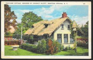 Thatched Cottage on Grounds of Chauncy Olcott Saratoga Springs NY Unused c1920s