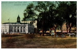 Connecticut Stamford ,  Atlantic Square and Town Hall