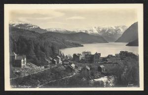 Ulvik Town Hardanger & Fjord Norway RPPC unused c1920's
