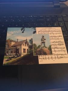 Vintage Postcard: Norway, Statue Of  E Grieg