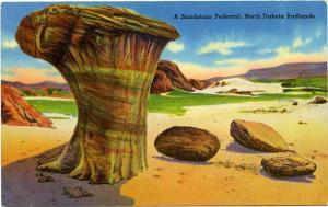 Sandstone Pedestal - North Dakota Badlands