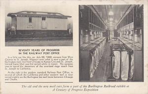 70 Years Of Progress In The Railway Post Office Chicago Century Of Progress R...