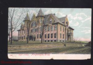 MORGANTOWN WEST VIRGINIA HIGH SCHOOL BUILDING ANTIQUE VINTAGE POSTCARD
