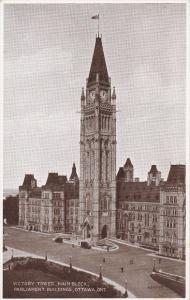 OTTAWA, Ontario, Canada, 1900-1910´s; Victory Tower, Main Block, Parliament ...