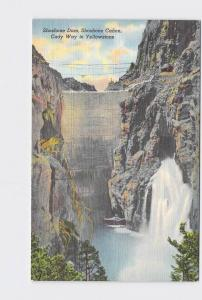 VINTAGE POSTCARD NATIONAL STATE PARK YELLOWSTONE SHOSHONE DAM CANON CODY WAY TO