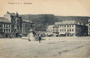 Czech Republic Tetschen an. E. Marktplatz 02.33