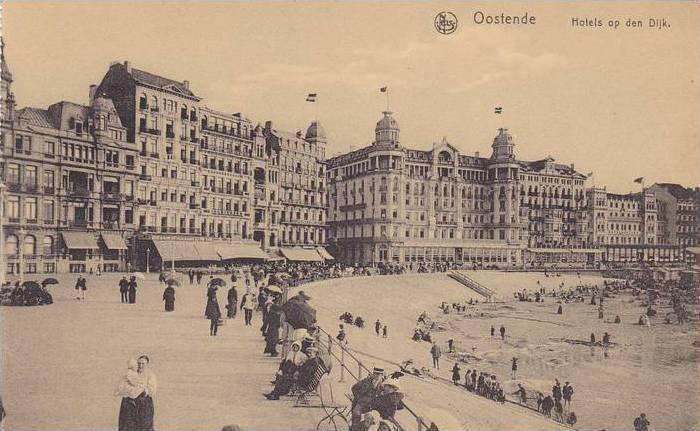 Hotels Op Den Dijk, Oostende (West Flanders), Belgium, 1900-1910s