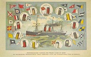 SS Etrurua House Flags Cunard Line Ship Unused