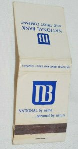National Bank and Trust Company 20 Strike Matchbook Cover