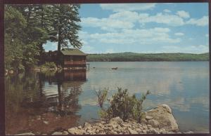 St. George Island Lake Boat House Maryland  Postcard