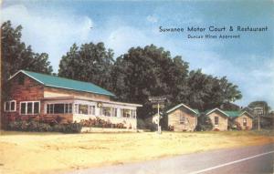 Cordele Georgia GA 1960s Postcard Suwanee Motor Court & Restaurant