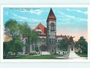 Unused W-Border LIBRARY SCENE Dayton Ohio OH hs2323