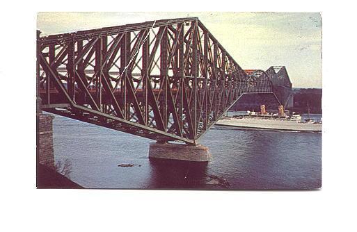 Ship Under Bridge, Quebec, Quebec, Used 1954