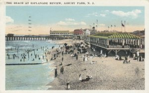 ASBURY PARK , New Jersey, 1921 ; Beach at Esplanade Review