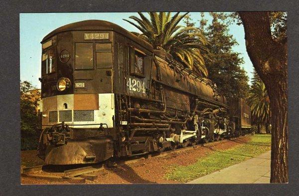 CA Southern Pacific Railroad Train SACRAMENTO CALIF California Postcard