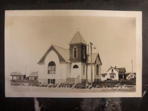 Mint USA RPPC Postcard Baptist Church Powers lake ND
