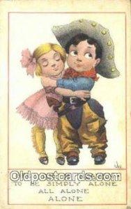 Artist Wall, Bernhardt Postcard Post Card Old Vintage Antique 1914