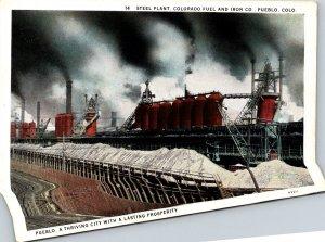 Colorado Pueblo Colorado Fuel and Iron Company Steel Plant Curteich
