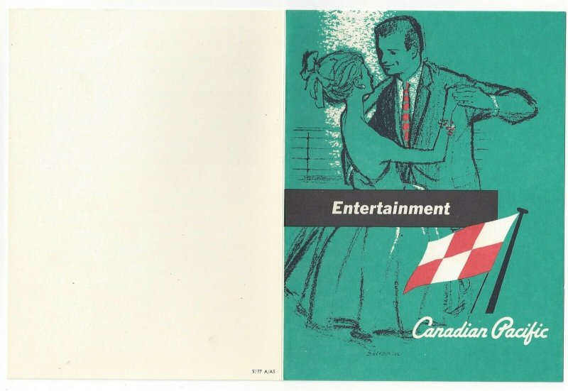 CANADIAN PACIFIC, Empress of Canada, Bi-fold, Programme, 9/19/1968