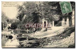Niort Old Postcard Street Regratterie the public garden Entree