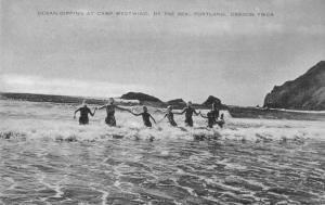 Portland Oregon Camp Westwind Ocean Swimming Postcard JD933134