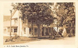 Jamaica VT A. L. Lewis Store Socony Gas Station Zeno's Ice Cream Sign RPPC