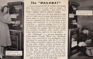 The Mailomat Pitney-Bowes Postage Meter