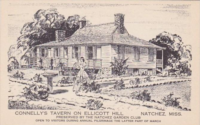 Mississippi Nathcez Second Terrace Of Garden Connelly's Tavern On Ellicott Hill