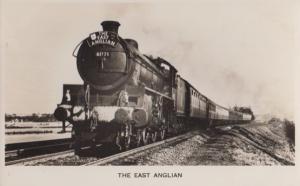 East Anglian Train Passing Manningtree Railway Station Essex Real Photo Postcard