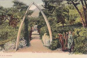 Boy stands next to the Whale Jaw´s Arch, Gibraltar, 00-10s