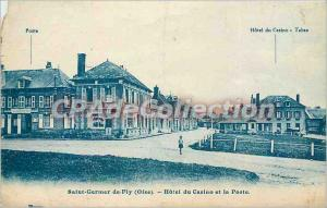 Old Postcard Saint Germer de Fly (Oise) Casino Hotel and the Post
