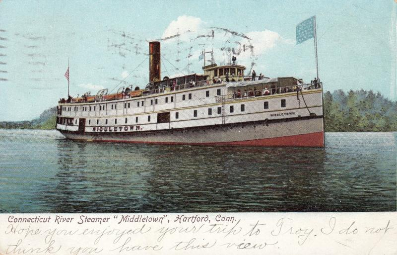Connecticut River Steamer Middletown, HARTFORD, Connecticut, PU-1906