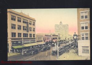 ST. PETERSBURG FLORIDA DOWNTOWN STREET SCENE 1920's CARS HC