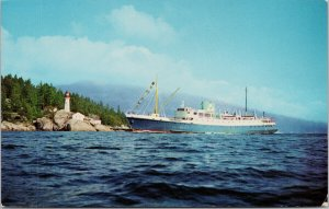 SS 'Glacier Queen' and SS 'Yukon Star' Inside Passage Unused Postcard G91
