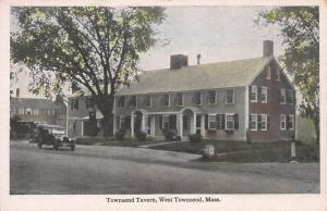Townsend tavern, West Townsend, Massachusetts, Early Postcard, Unused