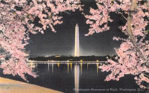 D.C. Washington Monument Column at Night, Bloom, Blossom 1955