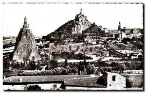 Modern Postcard Le Puy The Crow rocks and Saint Michel d & # 39Aiguilhe