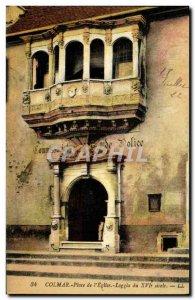 Postcard Old Colmar Square Church Loggia Police 16th