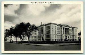 Waco Texas~Waco High School~Front & Side Entrances~Neighborhood~1930s B&W