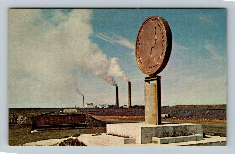 Sudbury Ontario-Canada, Canadian Centennial Numismatic Park, Chrome Postcard